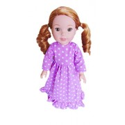 My Brittany's Lavender Star Nightgown for American Girl Wellie Wisher Dolls, Glitter Girls Dolls, Hearts for Hearts Dolls- 14 Inch Doll Clothes