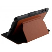 Synthetic Leather Flip Cover with Built-In Stand for Asus Google Nexus 7 2012 - Asus Leather Flip Case (Brown/Black)