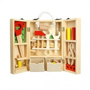 WMAOT DIY Portable Children Wooden Toys Tools Box 20. 3X30X8Cm Multifunctional Tool Carrycase