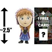 Anna (Winter Outfit): ~2.5' Funko Mystery Minis x Disney Frozen Mini Vinyl Figure Series + 1 FREE Classic Disney...