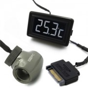 Senzor de temperatura XSPC LCD Temperature Display (Black/White) V3 + G1/4 Inline Sensor