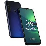 Motorola Teléfono celular Moto G8+ Plus, 64 GB, 4 GB, 6.3 pulgadas, cámara de 48 MP, batería 4000 mAh, SIM dual GSM desbloqueada (AT&T / T-Mobile / MetroPCS / Cricket / H2O) XT2019-2, versión internacional, 64GB + 64GB SD + Case Bundle, Azul
