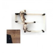 CatastrophiCreations Cat Mod Wall Mounted Cat Maze Shelf, English Chestnut/Black