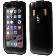 View Cover Sleeve Htc One E9, Hoes (L) met Touch Venster, zwart , merk i12Cover