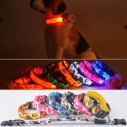 L Size Pet LED Safety Light-up Flashing Collar Glow In The Dark Dog Leash Fluorescent