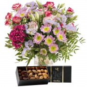 Interflora Bouquet Tendre bisou et ses amandes au chocolat