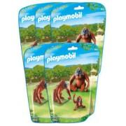 Playmobil Jouet Playmobil collection Le Zoo - Couple d'Orang-Outans et leur bébé (n° 6648) - x5
