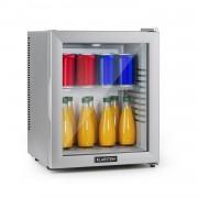 Klarstein Brooklyn 24 Silver, mini-frigider, clasa energetică A, ușă din sticlă, LED, raft, argintiu (HEA-Brooklyn-24Slb)