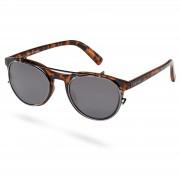 Waykins Walther Tortoise Brille Mit Transparenten Gläsern & Sonnenbrillenaufsatz