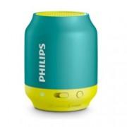 Тонколона Philips Bluetooth BT25B, 2.0, 2W, Bluetooth 4.0, до 6ч време за работа, до 10м обхват, USB, зелена-жълта