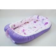 Baby Nest 0-6 luni: balerine si mov + protectie