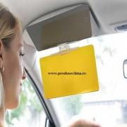 Parasolar HD auto anti-reflexie cu dubla functie zi-noapte