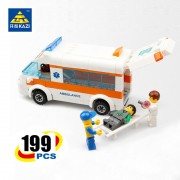 KAZI City Rescue Team Ambulance Bricks Kids Educational Learning Building Blocks for Ages 6+ Compatible with lego
