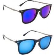Hrinkar Wayfarer Sunglasses(Blue, Silver)