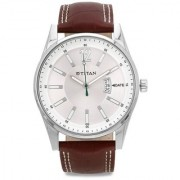 Titan Quartz Silver Dial Mens Watch-9322SL03