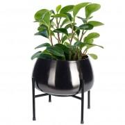 Osłonka DONICZKA metalowa na stojaku 22x21 cm na rośliny kwiaty