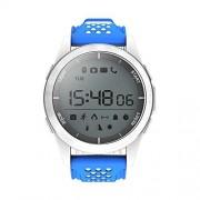 Jaysdarel F3 Smart Watch, largo tiempo de reposo Sport Outdoor - Reloj impermeable IP67 Bluetooth para iOS y Andriod Smartphone, Blanco y azul