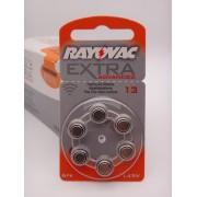 Baterii Rayovac 13, 1.45V auditive BLISTER 6 bucati PR48 pentru aparate auditive
