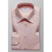 Eton Overhemd Natural Stretch Pointed Twill Warm Roze / male