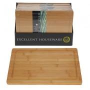 Snijplank hout bamboe 37x25 cm