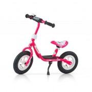 Bicicleta pentru copii Milly Mally, Fara pedale, Roz-alb