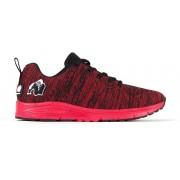 Gorilla Wear Brooklyn Knitted Sneakers (unisex) - Rood/Zwart - 45