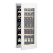 Vitrină de vin încorporabilă EWTgw 2383, 169 L, 51 sticle, Alarmă uşă, Siguranţă copii, Display, Control electronic, Iluminare LED, Rafturi lemn, H 122 cm, Clasa A