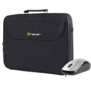 Чанта за лаптоп Tracer Bonito Bundle 15-15.6 инча - Черна + Подарък мишка
