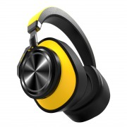 BLUEDIO T6 Active Noise-cancelling Foldable Over-ear Bluetooth 5.0 Headset - Yellow