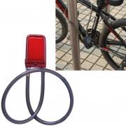 Bicycle Password Alarm IP44 Waterproof Burglar Vibration Alarm (Red)