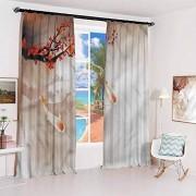 GUUVOR Koala Cortina con Ganchos, diseño Hipster, para recámara, guardería, Sala de Estar, color12, W36 x L72 x2 Inch,Hook and Loop Free, 1