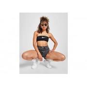 Nike Swoosh Bandeau Bikini Top Dames - Black - Dames