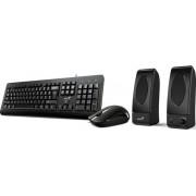 Kit Tastatura, mouse si boxe Genius KMS U130 (Negru)