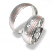 Luxusní Ocelové snubní prsteny 7022-2