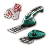 Bosch Isio акумулаторна ножица за трева, ножица за храсти c ръкавици, 060083310M, BOSCH