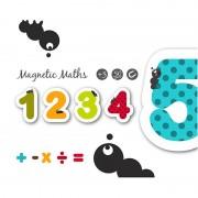 Cifre și semne matematice magnetice din lemn