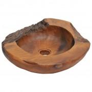 vidaXL Umywalka z drewna tekowego, 45 cm