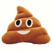 REBUY Soft Smiley Emoji Dark Brown Poop Cushion Pillow Stuffed Plush Toy ( 35cm Happy Emoji) (Laughing Emoji)