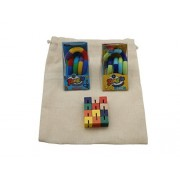 Set of 3 Fidget Toys - Tangle Jr. and Toysmith - in Drawstring Carry Bag