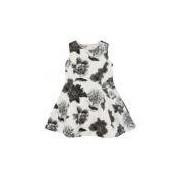 Vestido Infantil Neoprene Estampa Flores - 4