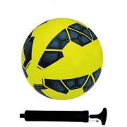 Kit of Premier League Yellow Football (Size-5) with Air Pump & Needle