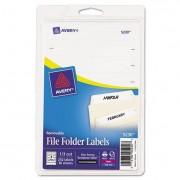 Removable 1/3-Cut File Folder Labels, Inkjet/laser, .66 X 3.44, White, 252/pk