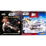 Hot Wheels Star Wars Starship Hoth Echo Base Battle Play Set & Star Wars Ships of the Galaxy Journey Book
