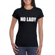 Bellatio Decorations No Lady tekst t-shirt zwart dames