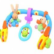 Jucarie bebelusi Malplay bara cu figurine de plus pentru carucior si scaun auto