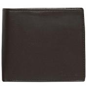 Calvin Klein Portofel negru pentru bărbați Leather Coin Pocket Bifold Wallet