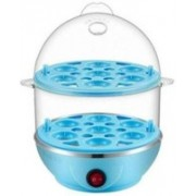 EFFULGENT Original 2 In 1 Double Layer Electric Non Stick Mini Egg Frying Pan Boiler Egg Cooker Egg Cooker(Blue, 14 Eggs)
