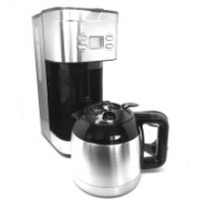 Smiledrive Premium Digital Drip Coffee Maker Machine with Re-usable Filter, Double-walled Stainless Steel Vacuum Flask-Capacity 1.2 ltrs 12 Coffee Maker(Silver)
