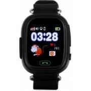 Ceas Smartwatch copii Wonlex GW100 GPS Touch cu functie telefon Negru Bonus Cartela Prepaid Vodafone Power
