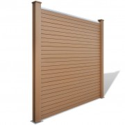 vidaXL Garden Fence Panel WPC Brown